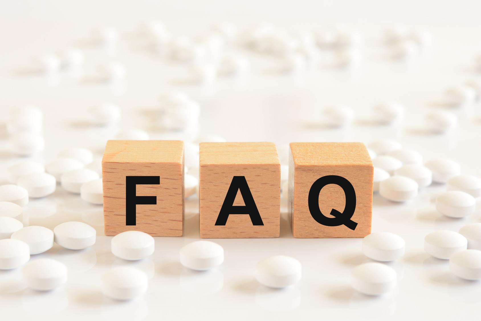 FAQ    白い錠剤
